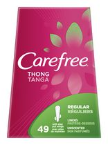 CAREFREE® Regular Liners Unscented Thong Panty