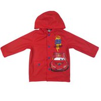Disney Boys' McQueen Printed Long Sleeve Raincoat 6