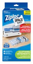Ziploc Space Bag Vacuum Bags Clothing Flat Large, 3 Bags