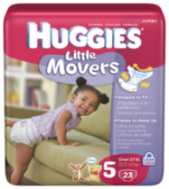 Huggies Little Movers Jumbo Pack Size 5