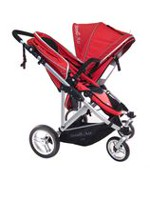 StrollAir My Duo Double Twin Stroller Red