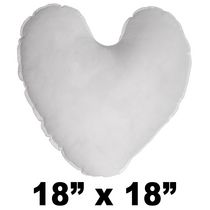 Hometex Heart Shaped Polyester Fill Pillow Form