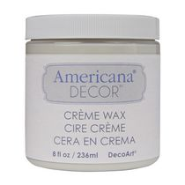 DecoArt Americana Decor Crème Wax 8 fl oz / 236 ml Clear