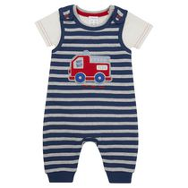 George British Design Baby Boys' Striped Jersey Overall 9-12 months