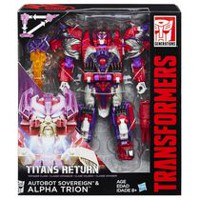 Transformers Generations Titans Return Autobot Sovereign and Alpha Trion Action Figures