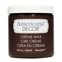 DecoArt Americana Decor Crème Wax 8 fl oz / 236 ml DEEP BROWN
