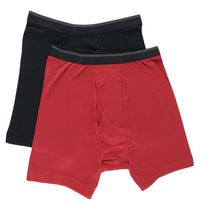George Men's Boxer Briefs 2-Pack Red M/M