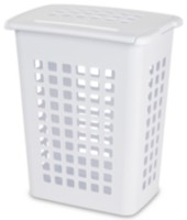 Sterilite Rectangular White Laundry Hamper
