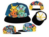 Pokemon Characters Sublimated Snapback