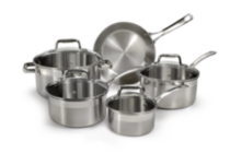 T-fal Inspire 9 pc Stainless Steel Set