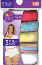 Fruit of the Loom Women's Cotton Brief - Pack of 5 10