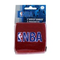NBA Wristband, Black/Red
