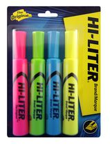Avery®  Desk Style HI-LITER®  83564, Assorted, Pack of 4