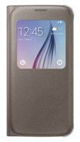 Samsung Galaxy S6 couverture S View (PU) GS6 Or Or