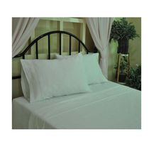 "hometrends T400 Thread Count Luxury Sateen Sheet Set White 108"" x 90"""
