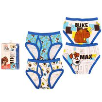 Universal Secret Lives of Pets Boys' 4-Pack Underwear 4