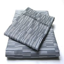 hometrends T400 Thread Count Luxury Sateen Pillowcase Starlight Stripe King