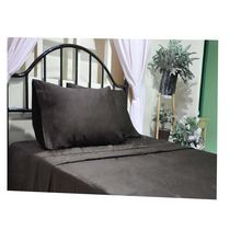 hometrends T400 Thread Count Luxury Sateen Pillowcase Brown King