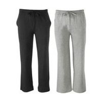 Fruit of the Loom Men's 2-Pack Knit Sleep Pants Black & Grey XL