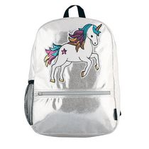 Fashion Angels Silver Shimmer Sequin Unicorn Backpack