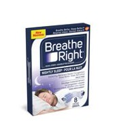 Bandelettes nasales Breathe Right® pour la nuit
