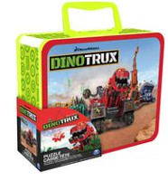 Dinotrux 24-Piece Kids Jigsaw Puzzle in Tin with Handle