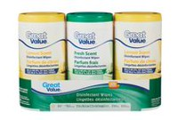 Great Value Disinfectant Wipes Variety Pack