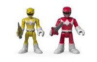 Figurines Armure de combat Power Rangers Imaginext de Fisher-Price - Ranger rouge et Ranger jaune