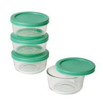 Pyrex 8 Piece Value pack with Green Lid - 1 cup, 236 ml