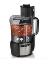 Hamilton Beach Stack and Snap 10-Cup Food Processor, Black