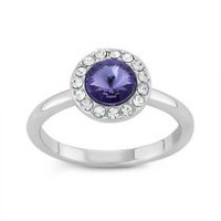 Women's Purple Halo Ring