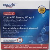 Equate Advanced Strength Xtreme Whitening Wraps