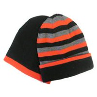 George Boys' 2-Pack Reversible Striped Toque Black