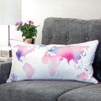 Ivory Park Map World Pink Decorative Throw Cushion