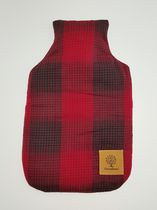 Canadiana 2 Litre Hot Water Bottle with Removable Plaid Cover