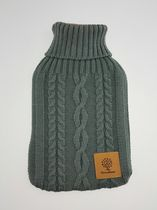 Canadiana 2 Litre Grey Cable Knit Hot Water Bottle