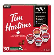 Tim Hortons Dosettes de café à usage unique, paq. de 30 variété