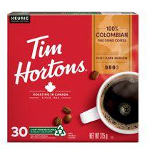 Café Tim Hortons à torréfaction moyenne-foncée 100 % Colombien
