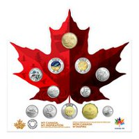 Collection de 12 pièces de circulation Canada 150 2017 de Royal Canadian Mint