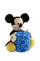 Mickey Plush with Printed Blanket