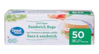 Great Value Zipper Sandwich Bags