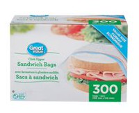 Great Value Sandwich Bags - 300 ct
