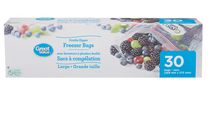 Great Value Large Double Zipper Freezer Bags