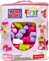 Mega Bloks Big Building Bag, 80-Piece, Pink