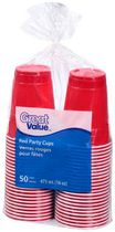 Great Value 16 Oz. Red Party Cup
