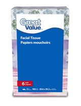 Great Value 2 Ply Facial Tissue Papers