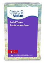Great Value 3 Ply Facial Tissue Papers