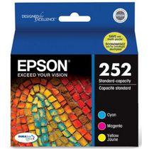 Epson DURABrite Ultra 252 C / M / Y cartouches d'encre couleur (T252520-S), Combo 3 / Paquet