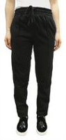 Rebel Sugar Women's French Terry Track Pants with Retro Tapping Black L