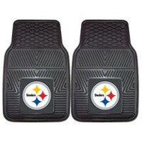 FanMats NFL Pittsburgh Steelers Vinyl Car Mat - Set of 2